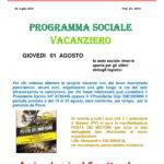 Programma Sociale Agosto 2019